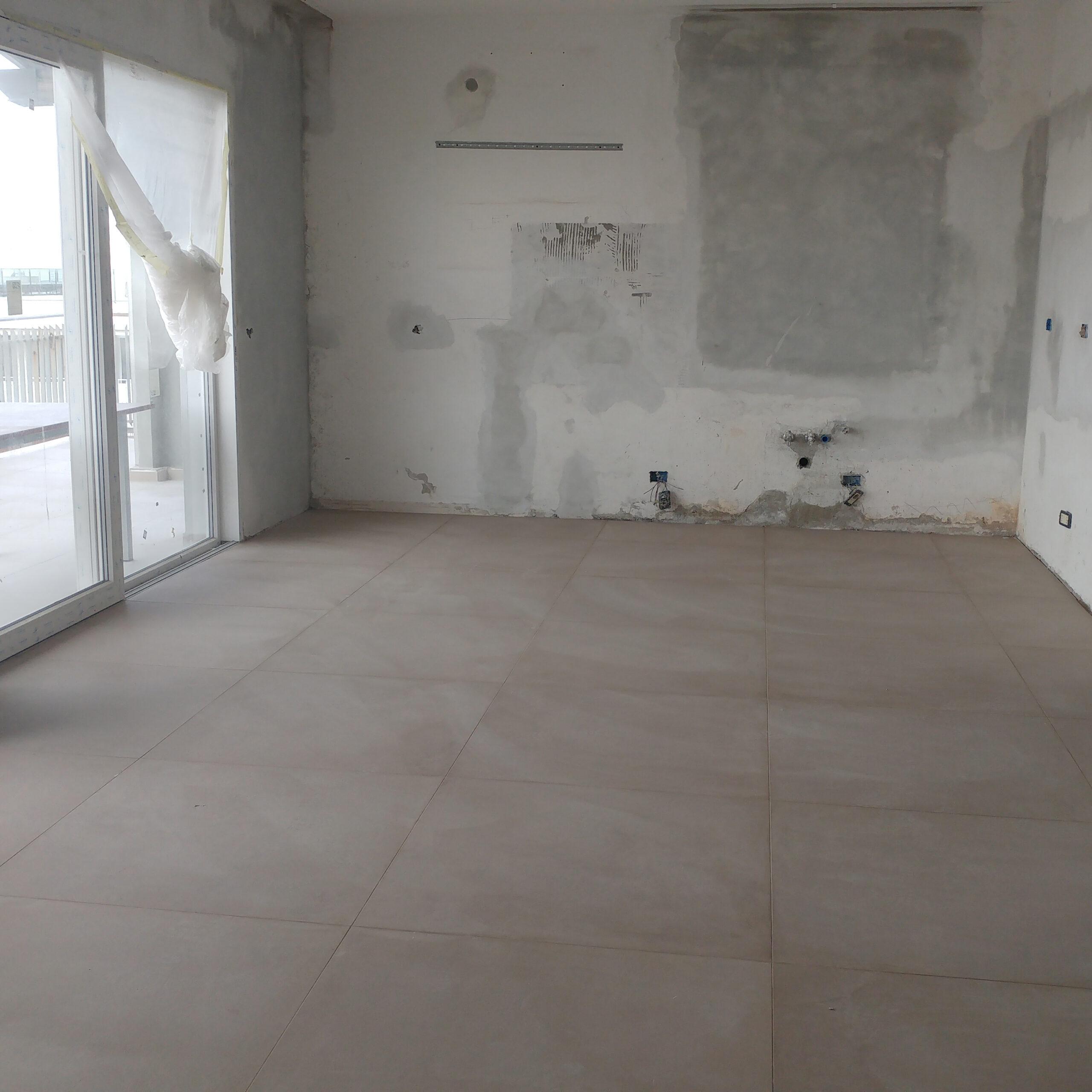 Ristrutturazione - Attico SL Cantiere Creattivo zona giorno 03 durante lavori QUADRATO